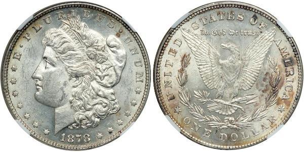 1 Dollar 美利堅合眾國 (1776 - ) 銀