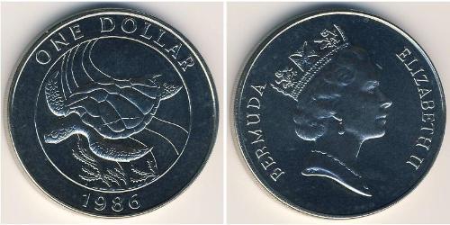 1 Dollar 百慕大 銅/镍 伊丽莎白二世 (1926-)