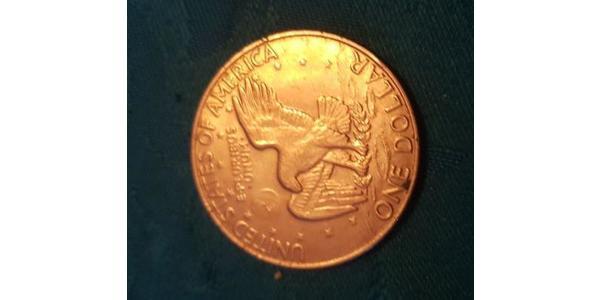 1 Dollar 美利堅合眾國 (1776 - ) 銅/镍 Dwight David Eisenhower (1890-1969)