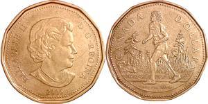 1 Dollar 加拿大 青铜 伊丽莎白二世 (1926-)