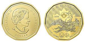 1 Dollar 加拿大 黃銅 伊丽莎白二世 (1926-)