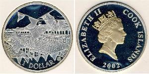 1 Dollar Îles Cook Argent Elizabeth II (1926-)