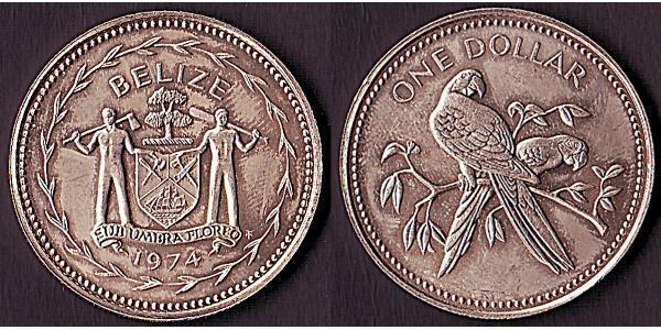 1 Dollar Belize (1981 - ) Argent