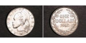 1 Dollar Liberia Argent
