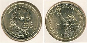 1 Dollar USA (1776 - ) Brass James Madison (1751 - 1836)