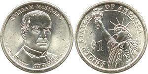 1 Dollar USA (1776 - ) Brass William McKinley, Jr. (1843 - 1901)