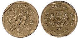 1 Dollar Inde / Singapour Bronze/Aluminium