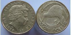 1 Dollar New Zealand Bronze/Aluminium