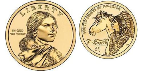 1 Dollar USA (1776 - ) Copper