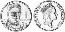 1 Dollar Australia (1939 - ) Copper/Aluminium/Nickel Elizabeth II (1926-)