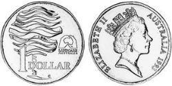 1 Dollar Australia (1939 - ) Copper/Aluminium/Nickel Elizabeth II (1926-)