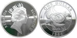 1 Dollar Bermuda Copper/Nickel Elizabeth II (1926-)