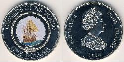 1 Dollar Cook Islands Copper/Nickel Elizabeth II (1926-)