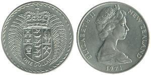 1 Dollar New Zealand Copper/Nickel Elizabeth II (1926-)