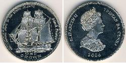 1 Dollar Tristan da Cunha Copper/Nickel Elizabeth II (1926-)