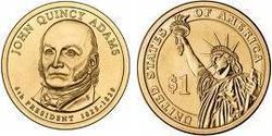 1 Dollar USA (1776 - ) Copper/Nickel John Adams (1735-1826)