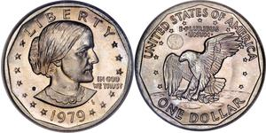1 Dollar USA (1776 - ) Copper/Nickel Susan Brownell Anthony (1820-1906)