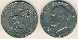 1 Dollar USA (1776 - ) Copper/Nickel Dwight David Eisenhower (1890-1969)