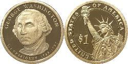 1 Dollar USA (1776 - ) Copper/Zinc George Washington