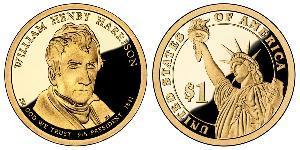 1 Dollar USA (1776 - ) Copper/Zinc William Henry Harrison