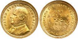 1 Dollar USA (1776 - ) Gold William McKinley, Jr. (1843 - 1901)