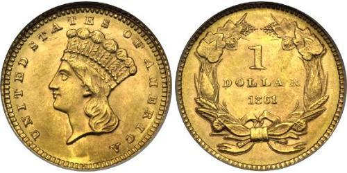1 Dollar USA (1776 - ) Gold