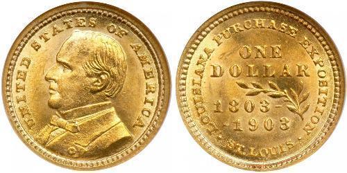 1 Dollar USA (1776 - ) Gold William McKinley, Jr. (1843 - 1901)