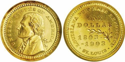1 Dollar USA (1776 - ) Gold Thomas Jefferson (1743-1826)