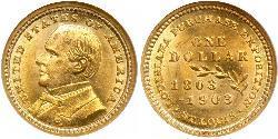 1 Dollar Vereinigten Staaten von Amerika (1776 - ) Gold William McKinley, Jr. (1843 - 1901)