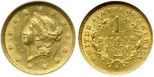 1 Dollar Vereinigten Staaten von Amerika (1776 - ) Gold