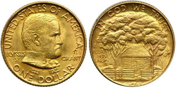 1 Dollar Vereinigten Staaten von Amerika (1776 - ) Gold Ulysses S. Grant (1822-1885)