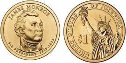 1 Dollar Vereinigten Staaten von Amerika (1776 - ) Kupfer/Nickel James Monroe