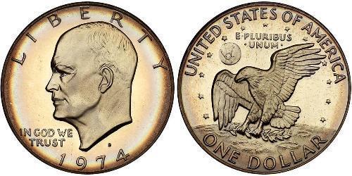 1 Dollar Vereinigten Staaten von Amerika (1776 - ) Kupfer/Nickel Dwight  Eisenhower (1890-1969)