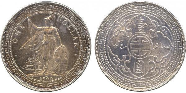 1 Dollar Britisches Weltreich (1497 - 1949) / Hongkong Silber
