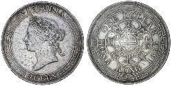 1 Dollar Hongkong Silber Eduard VII (1841-1910)