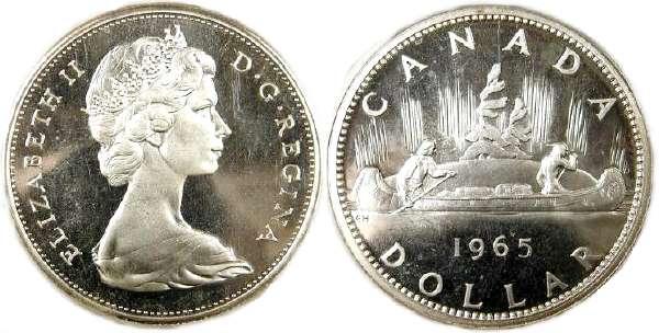 Münze 1 Dollar Kanada Silber 1965 1966 Elizabeth Ii 1926 Preis Km