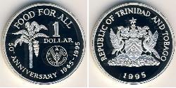 1 Dollar Trinidad und Tobago Silber