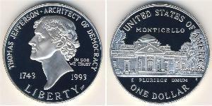 1 Dollar Vereinigten Staaten von Amerika (1776 - ) Silber Thomas Jefferson (1743-1826)