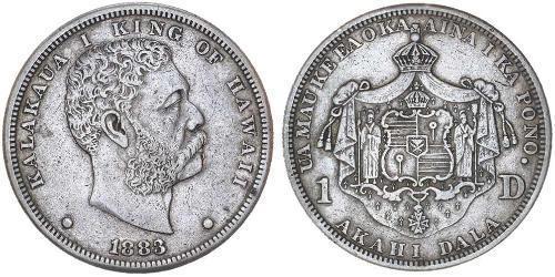 1 Dollar Vereinigten Staaten von Amerika (1776 - ) Silber David Kalākaua