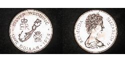 1 Dollar Bermuda Silver Elizabeth II (1926-)
