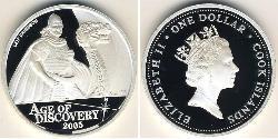 1 Dollar Cook Islands Silver Elizabeth II (1926-)