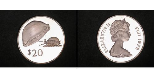 1 Dollar Fiji Silver Elizabeth II (1926-)