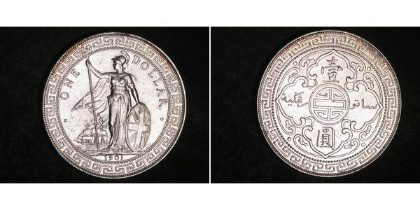 1 Dollar Hong Kong / British Empire (1497 - 1949) Silver