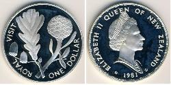 1 Dollar New Zealand Silver Elizabeth II (1926-)