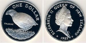 1 Dollar New Zealand Silver Elizabeth II (1926-)