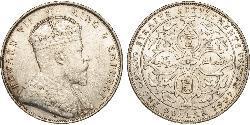 1 Dollar Straits Settlements (1826 - 1946) Silver Edward VII (1841-1910)