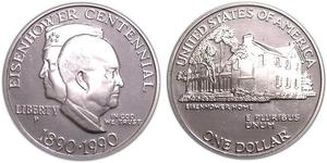 1 Dollar USA (1776 - ) Silver Dwight David Eisenhower (1890-1969)