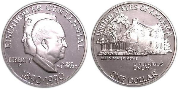 1 Dollar USA (1776 - ) Silver Dwight David Eisenhower (1890-1969)