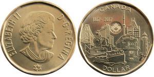 1 Dollar Canada Steel/Brass Elizabeth II (1926-)