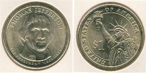 1 Dollar USA (1776 - )  Thomas Jefferson (1743-1826)